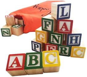 ABC Blocks 27 PCS Stacking Blocks Baby Alphabet Letters, Counting, Building Block Set  (Multicolor) By Signomark.