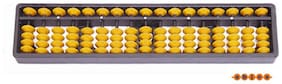 Abica Abacus math learning kit for kids yellow 17 rod  ( pack of 1 )