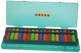 Abica Abacus math learning kit for kids Brown 17 Rod multi color with box  ( pack of 1 )