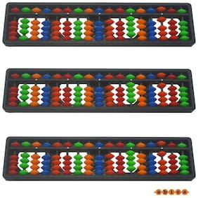 Abica Abacus math learning kit for kids multi color 17 rod ( pack of 3 )