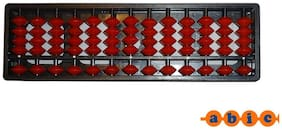:    Abica Abacus math learning kit for kids Brown 13 Rod ( pack of 1 )
