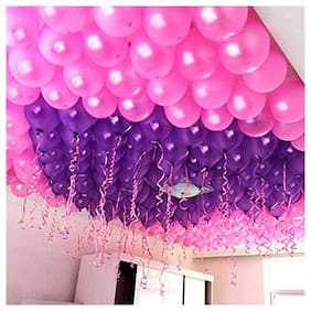 Ablegate HD Metallic Finish Balloons for Birthday / Anniversary Party Decoration (Purple;Pink ) Pack of 50