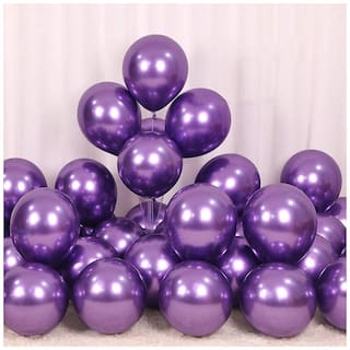 Ablegate HD Metallic Finish Balloons for Birthday / Anniversary Party Decoration (Purple ) Pack of 50
