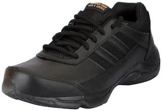 Action Black Boys School Shoes