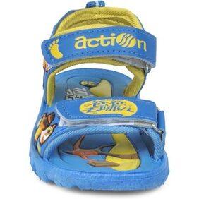 Action Shoes Dotcom Kids Footwear Ks-125 Blue-Yellow
