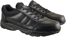 Action Black Boys School Shoes