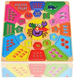 Tickles Mathematical Counting Activity Shape Clock Learning Toys for Kids (for 2+ Years Kids)