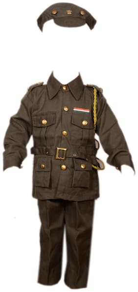 AD Army Fancy Dress | Kids Indian Army Man Costume & fancy dress | Army Dress | Use for school competitions, Events, Annual Functions.