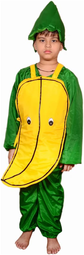AD Banana fancy dress for kids|Banana costumes| |high quality material|Use for school competitions, Events, Annual Functions.