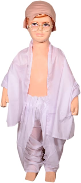 AD Freedom fighter Gandhi ji fancy dress for kids  Gandhi ji costumes  high quality material  Use for school competitions, Independence day ,Events, Annual Functions.