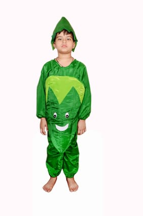 AD Lady's Finger Fancy Dress for 4 Year Kids|Lady's Finger Costumes| USE for School COMPETETIONS,Events & Annual Functions