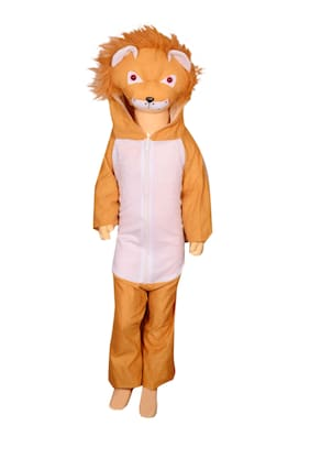 AD Lion fancy dress for kids| Lion costumes| |high quality material|Use for school competitions, Events, Annual Functions.