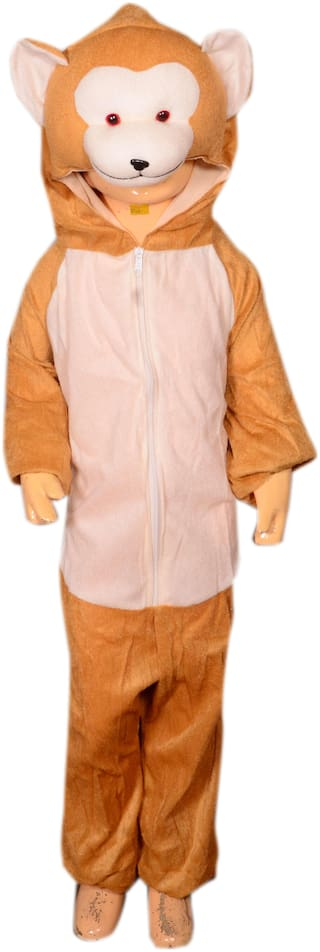 AD Monkey fancy dress for kids| Monkey Costumes| |high quality material|Use for school competitions, Events, Annual Functions.