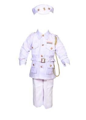 AD Navy Officer Fancy Dress | Kids Indian Navy Officer Costume & fancy dress | Navy Lieutenant Commander Dress | Use for school competitions, Events, Annual Functions.