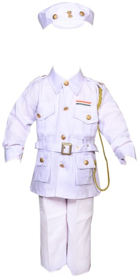 AD Navy Officer Fancy Dress   Kids Indian Navy Officer Costume & fancy dress   Navy Lieutenant Commander Dress   Use for school competitions, Events, Annual Functions.