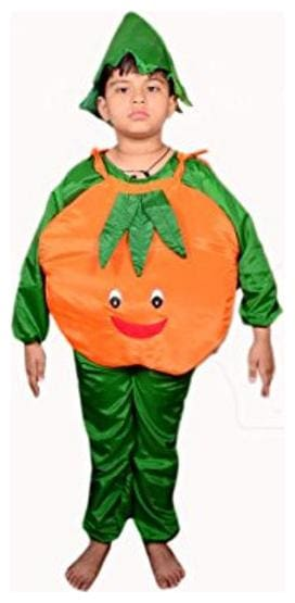AD Orange  Fancy Dress | Kids Orange Costume & fancy dress | Orange Dress | Use for school competitions, Events, Annual Functions.