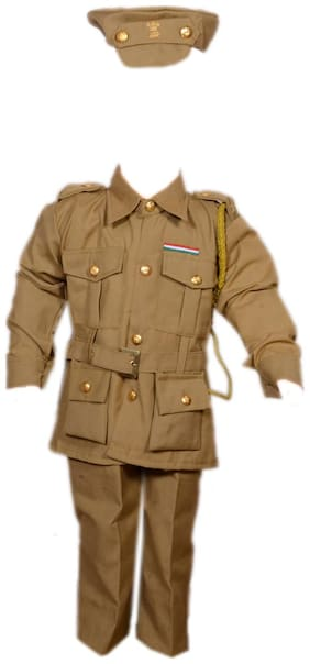 AD Policeman Fancy Dress | Kids Indian Police Man Costume & fancy dress | Police Officer Dress | Use for school competitions, Events, Annual Functions.