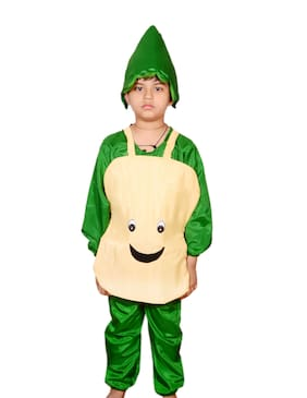 AD Potato fancy dress for kids| Potato costumes| |high quality material|Use for school competitions, Events, Annual Functions.