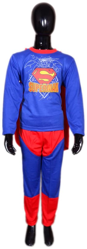 AD Superman Fancy Dress | Kids Superman Costume & fancy dress | Superman Dress | Use for school competitions, Events, Annual Functions.