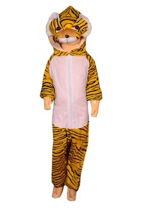 AD Tiger fancy dress for kids| Tiger costumes| |high quality material|Use for school competitions, Events, Annual Functions.