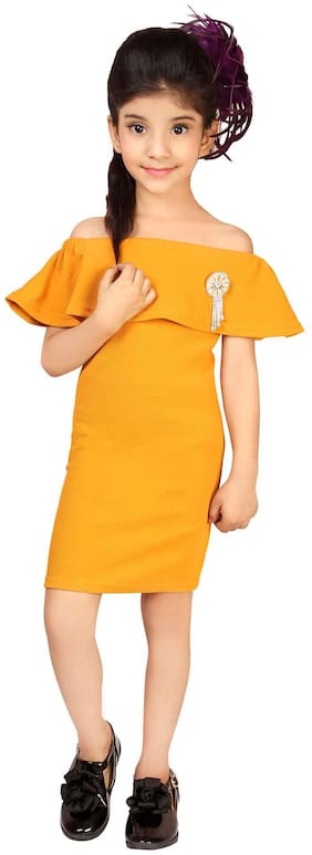 Yellow Off Shoulder Frock