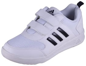 Adidas Boy's Flo K White-Nevy Velcro School Shoes