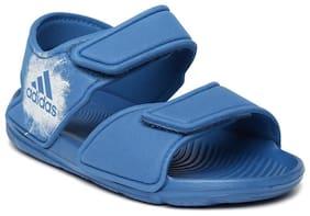 Adidas Blue Unisex Kids Slippers