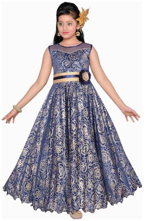 Adiva Girl's Party Wear Gown for Kids