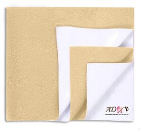 Ador Soft;Waterproof and Reusable Bed Protector Baby Sheet (70cm x 100cm) - Beige;M
