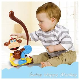 Adraxx Swinging Monkey with Lights;Music and Ring Throwing Game