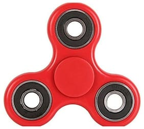 Aeoss New Tri-Spinner Shakes Toy Plastic EDC Sensory Fidget Spinner For Autism And Children With ADHD / Adult Funny Anti Stress Toys (RED)