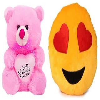 AGNOLIA Pink & Yellow Teddy Bear - 30 cm