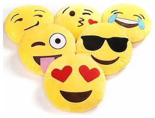 Agnolia Gift Basket Plush Emoji Soft Round, Wink, Kiss, Heart and Love Cushion, 12x12 inch/30x30cm - Set of 2