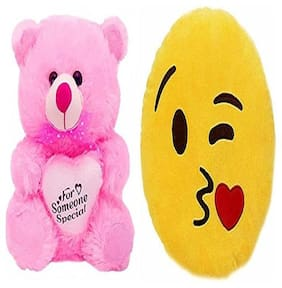 AGNOLIA Pink & Yellow Teddy Bear - 30 cm
