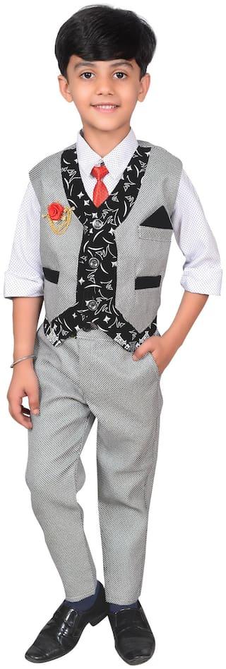 Ahhaaaa Boys Waistcoat, Shirt and Trouser Set