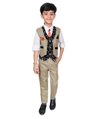 Ahhaaaa Boys Waistcoat, Shirt and Trouser Set