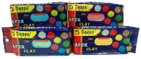 Air drying modelling clay , 250 g , set of 4 , color red, yellow , blue , green , used also in jewelry making , art & craft .total 500 g
