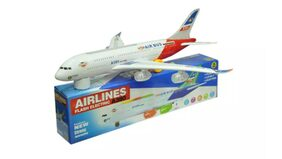 Airbus A380 Airplane Model Toys With Loud Musical Flashing Light Automatic Airplane Electric Plane,