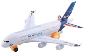 Airbus A380 Electric Aeroplane Toy With Lights And Sound, Bump And Go Action Toy Plane