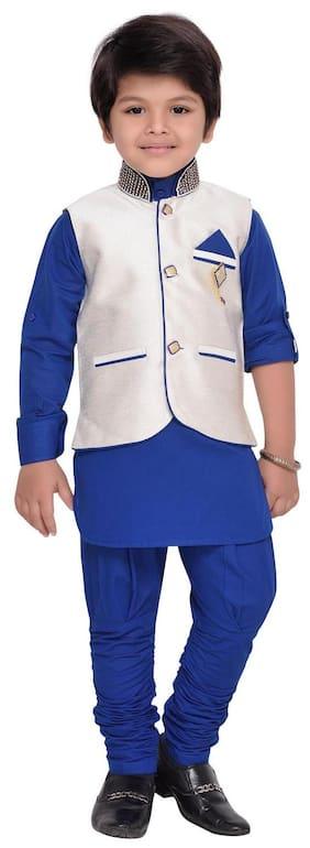 AJ Dezines Kids Ethnic Wear Kurta Pyjama and Waistcoat Set for Boys