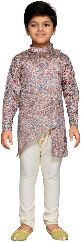 Aj Dezines Boy Cotton blend Printed Kurta pyjama set - Multi