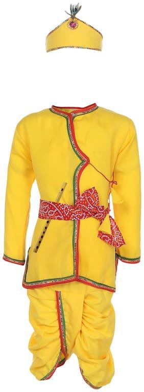 Kidling Baby boy Cotton Solid Dhoti kurta - Yellow