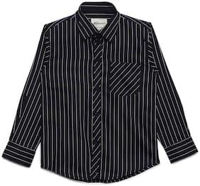 Aj Dezines Boy Cotton Striped Shirt Blue