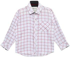 Aj Dezines Cotton Checked Shirt for Baby Boy - White
