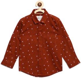 Aj Dezines Cotton Printed Shirt for Baby Boy - Maroon