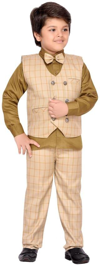 c5b2b63377 Buy AJ Dezines Kids Party Wear Waistcoat Suit Set for Baby Boys ...