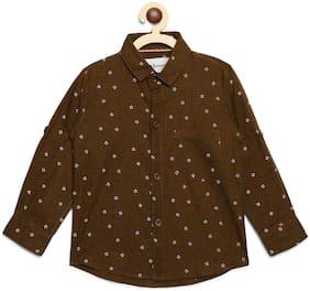 Aj Dezines Cotton Printed Shirt for Baby Boy - Brown