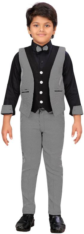 AJ Dezines Suit Full Length Black
