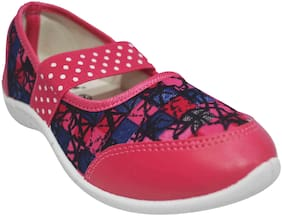 Ajanta Pink Girls Casual Shoes