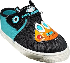 Ajanta Black Casual Shoes For Infants